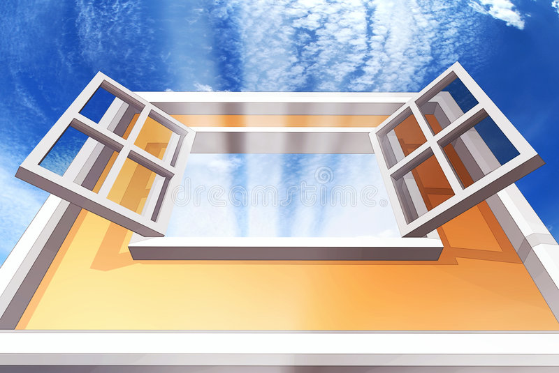 Finestra aperta illustrazione di stock