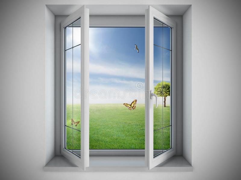 Finestra aperta illustrazione di stock immagine 45180186 for Disegno di finestra aperta