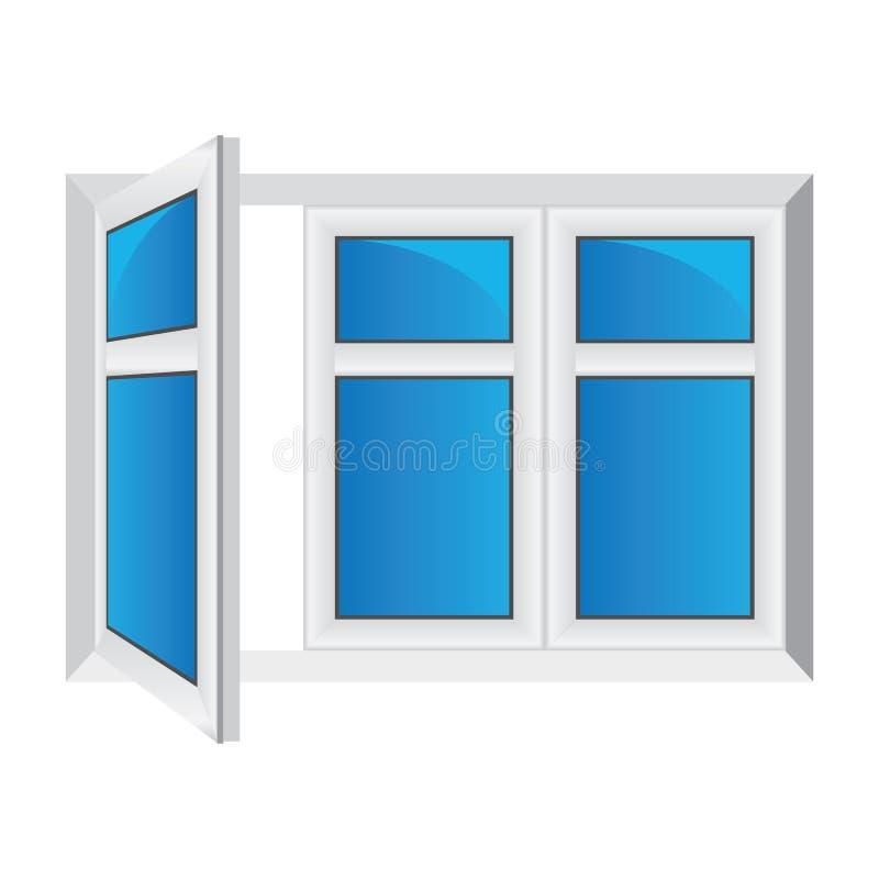Finestra aperta di vettore illustrazione vettoriale for Disegno di finestra aperta