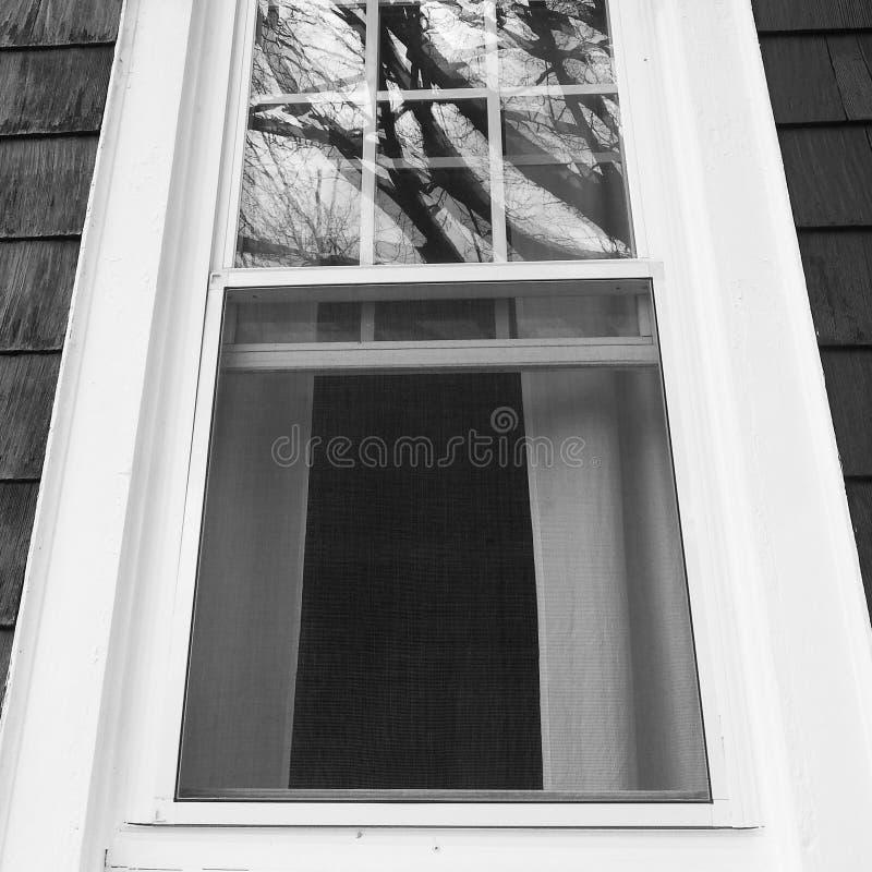 Finestra in bianco e nero fotografia stock