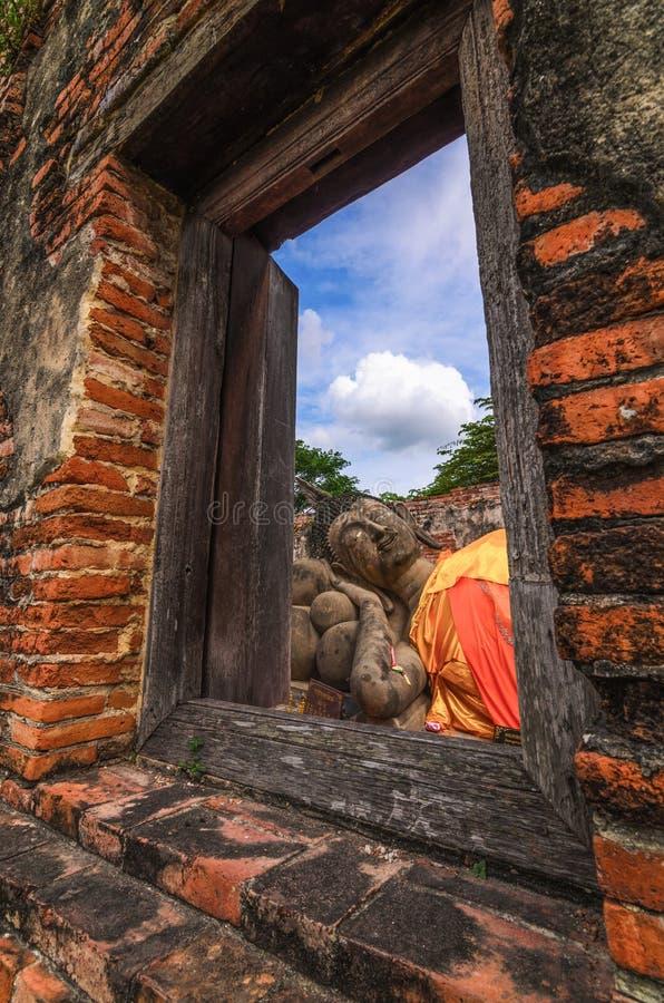 Finestra a Buddha fotografie stock libere da diritti
