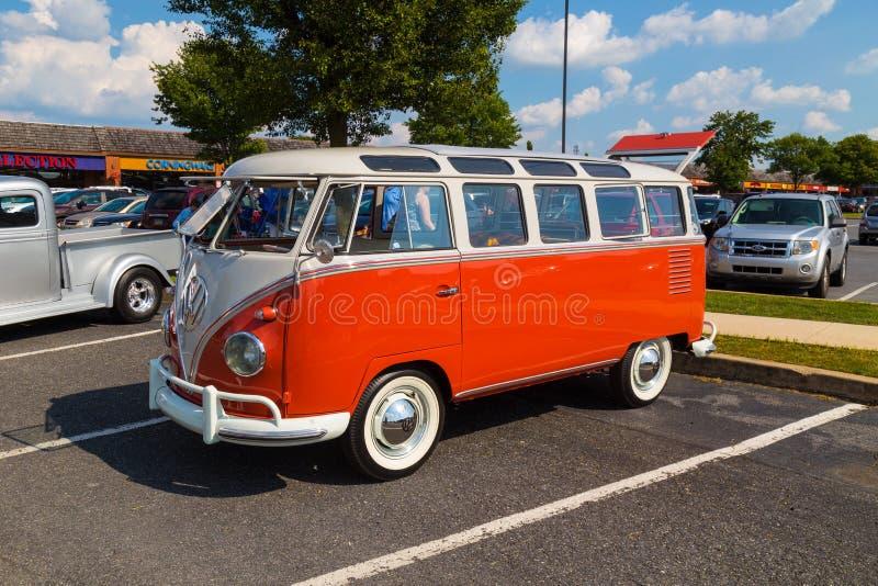 Finestra classica Van di Volkswagen immagini stock libere da diritti