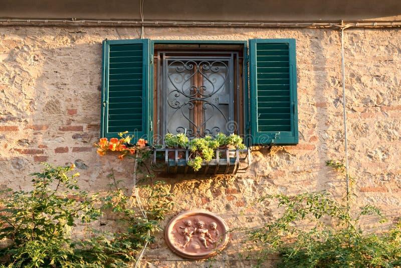 Finestra con i fiori nel paese bolgheri toscana for Finestra con fiori disegno
