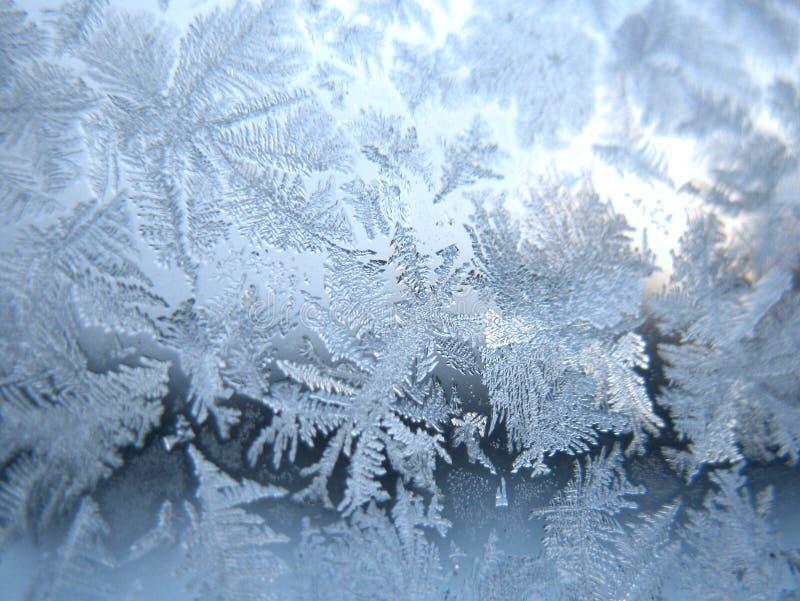Finestra congelata di inverno immagini stock libere da diritti