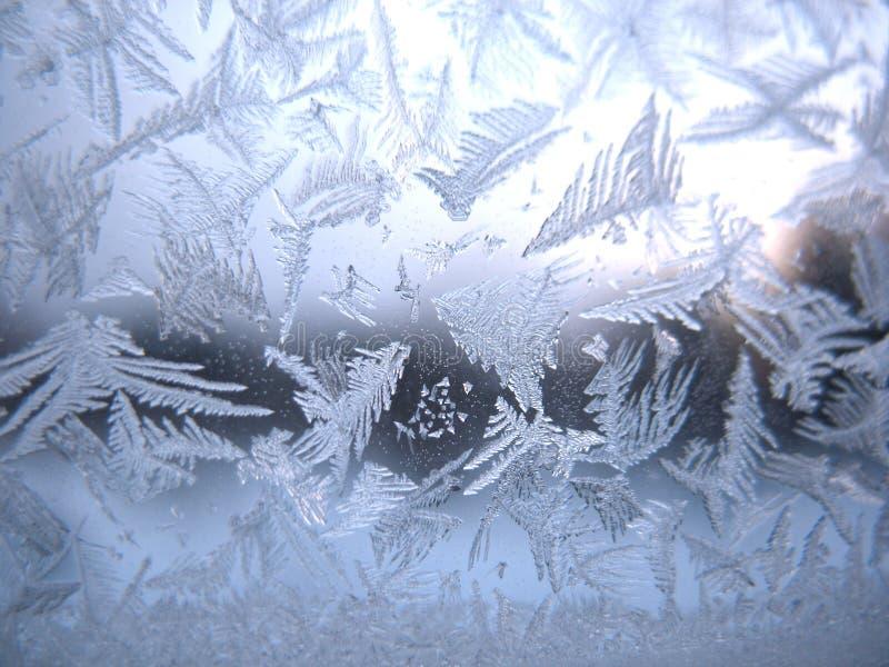 Finestra congelata di inverno fotografia stock libera da diritti