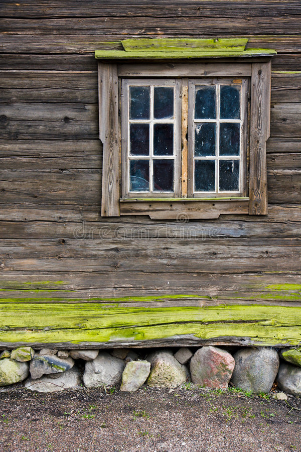 Finestra del cottage fotografie stock