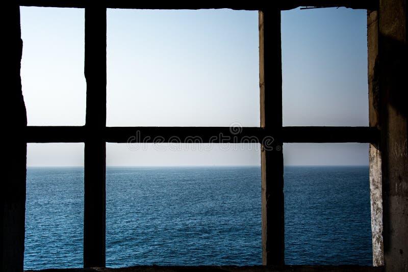 Finestra del mare fotografia stock