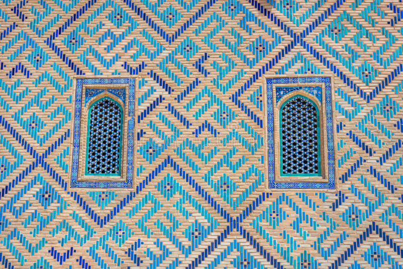 Finestra del mausoleo di Turkistan, il Kazakistan fotografie stock libere da diritti