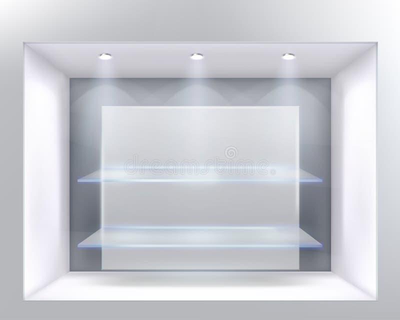 Finestra del negozio illustrazione di stock
