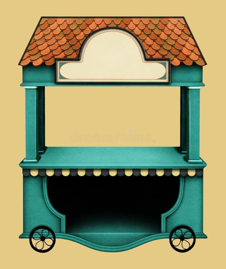 Finestra del negozio di festa illustrazione vettoriale