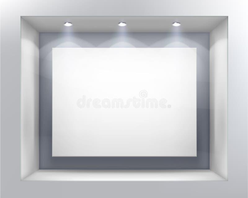 Finestra del negozio. Illustrazione di vettore. illustrazione di stock