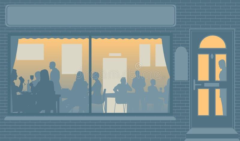 Finestra del ristorante illustrazione vettoriale