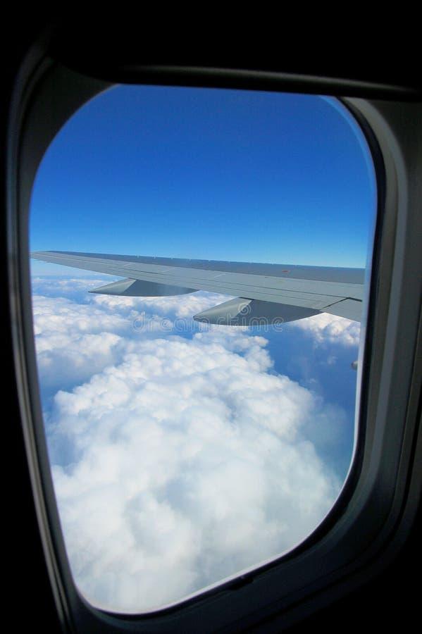 Finestra dell'aeroplano fotografie stock