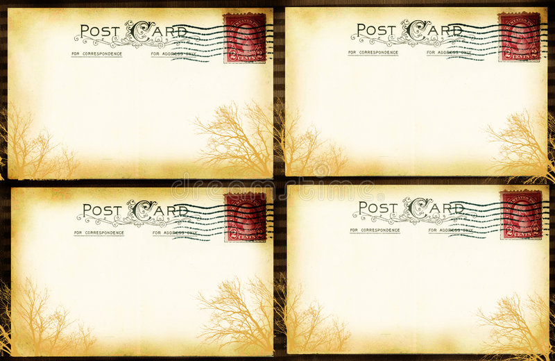 Finestra della cartolina dell'annata fotografia stock