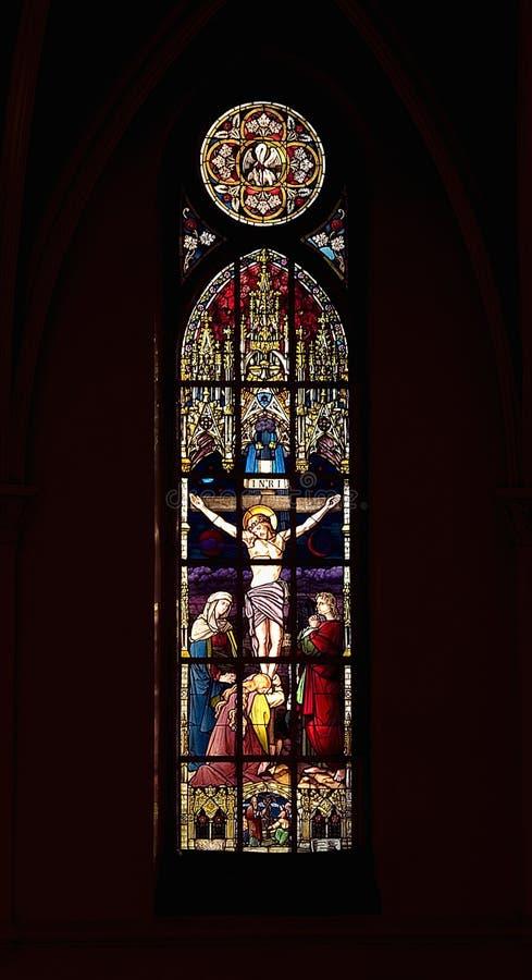 Finestra della chiesa fotografie stock
