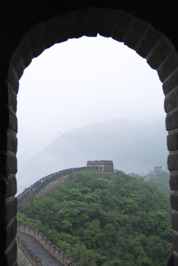 Finestra della Grande Muraglia, Cina fotografia stock libera da diritti