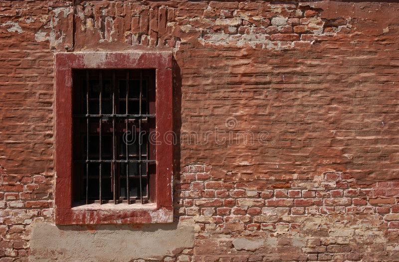 Finestra della prigione fotografie stock