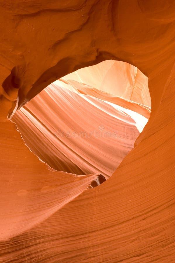 Finestra della roccia del canyon dell'antilope fotografia stock libera da diritti