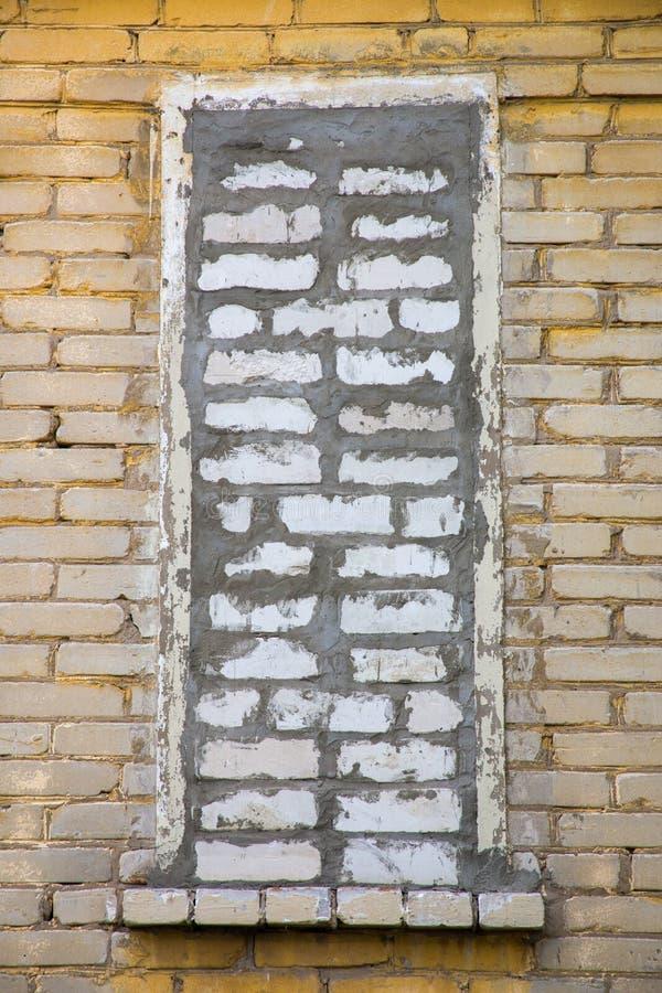 Finestra di Bricked immagini stock