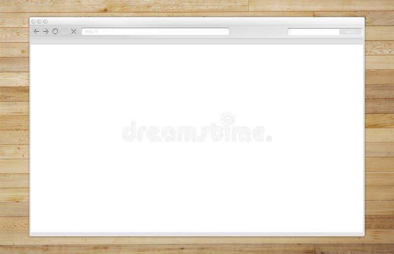 Finestra di browser di Internet immagini stock