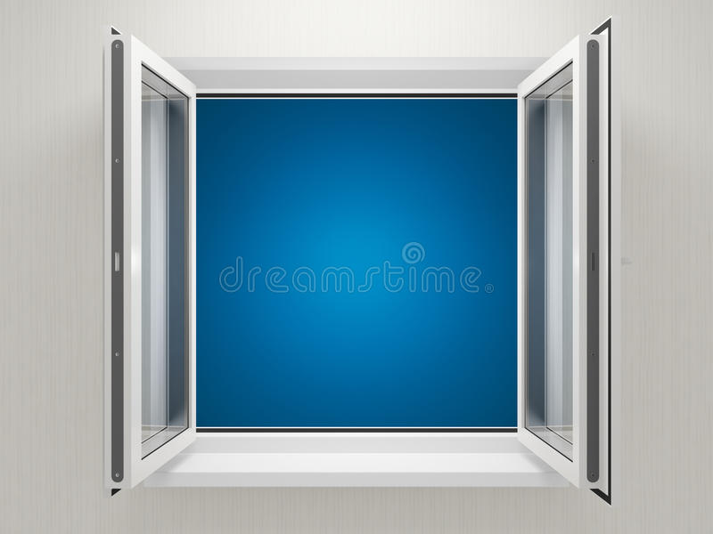 Finestra di plastica aperta illustrazione di stock