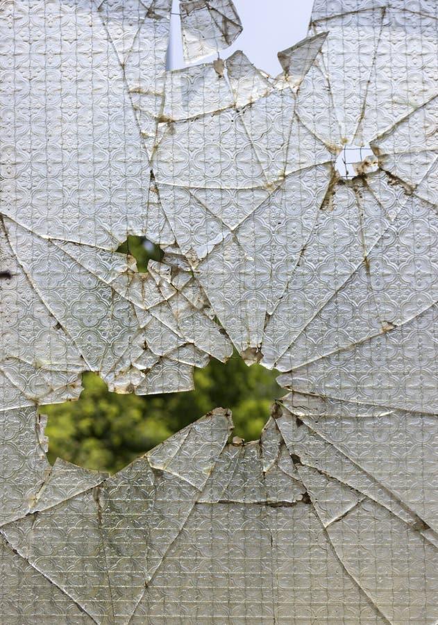 Finestra di rinforzo rotta fotografia stock