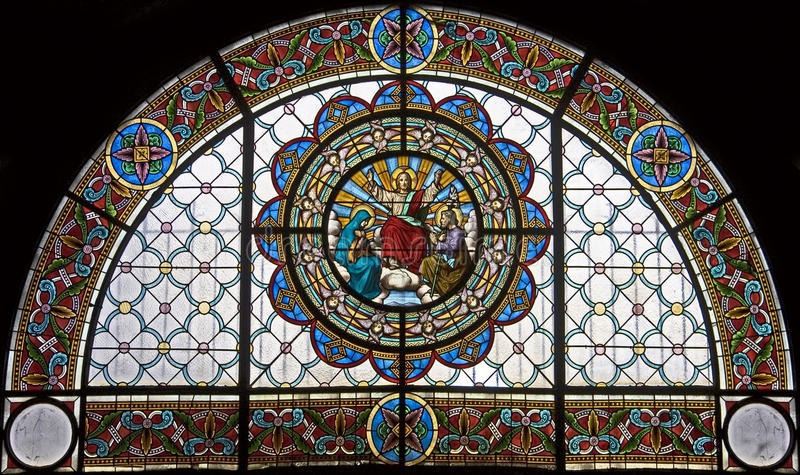 Finestra di Stained-glass 112 fotografia stock libera da diritti