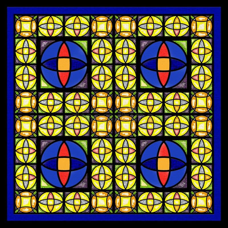 Finestra di vetro della macchia illustrazione vettoriale
