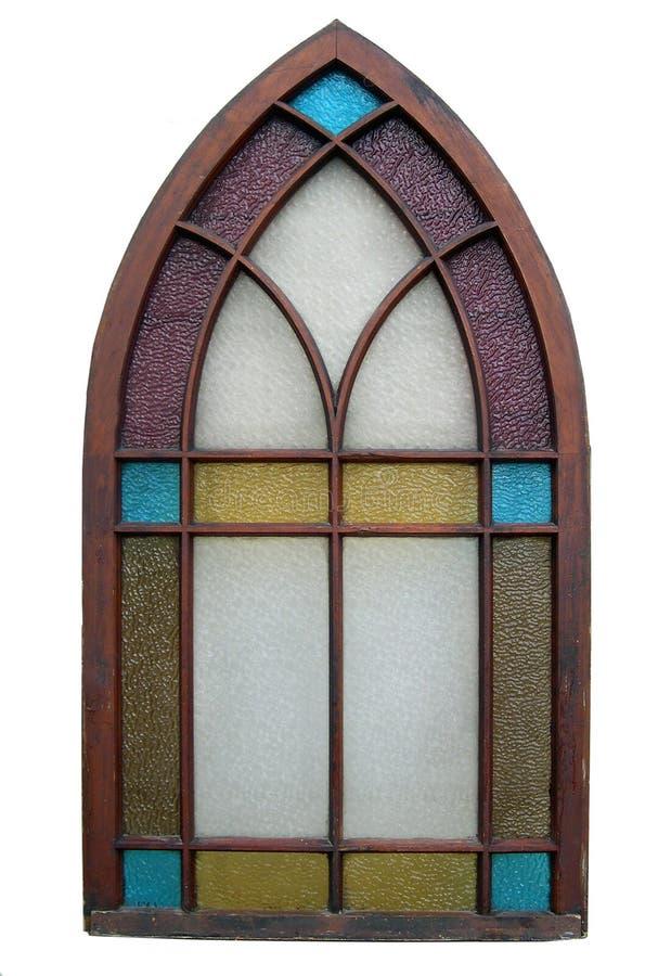 Finestra di vetro macchiata dell'oggetto d'antiquariato immagine stock libera da diritti