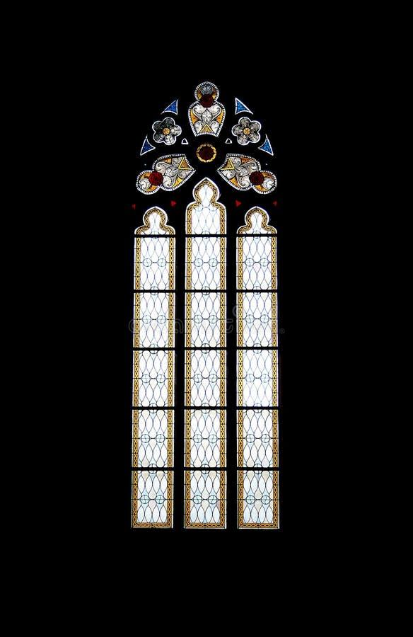 Finestra di vetro macchiata di una chiesa fotografia stock