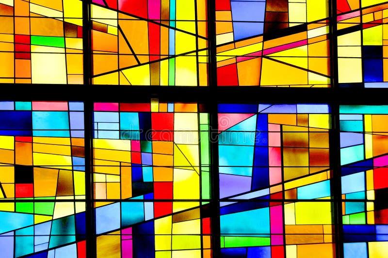 Finestra di vetro macchiata moderna fotografia stock
