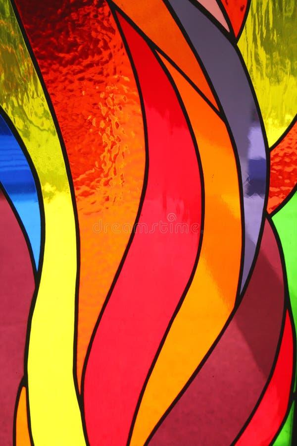 Finestra di vetro macchiata nella chiesa fotografia stock libera da diritti