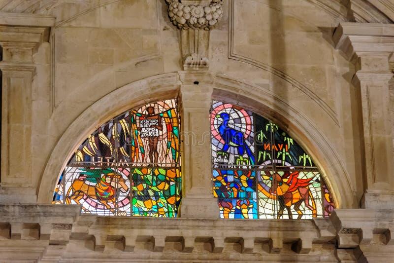 Finestra di vetro macchiato della st Blaise di Ragusa immagine stock