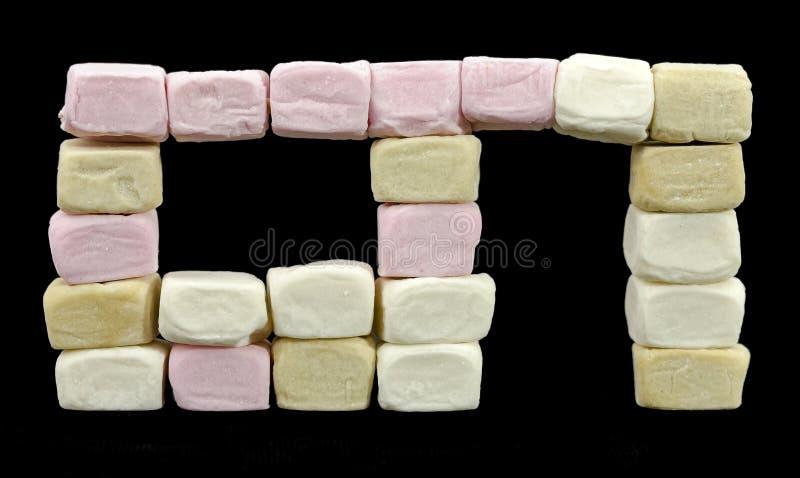 Finestra e portale fatti delle caramelle gommosa e molle fotografia stock