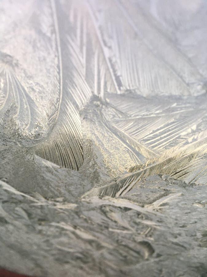 Finestra ghiacciata fotografia stock libera da diritti