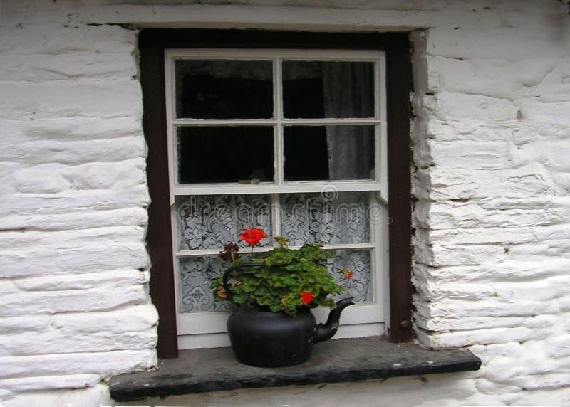 Finestra irlandese del cottage immagini stock libere da diritti