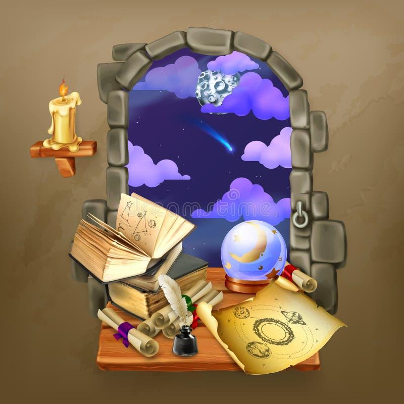 Finestra nel castello royalty illustrazione gratis