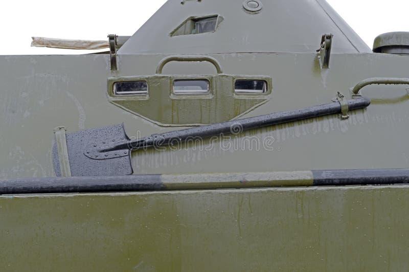 Finestra per l'esame in uno schermo protettivo sul vehi russo della pattuglia immagine stock