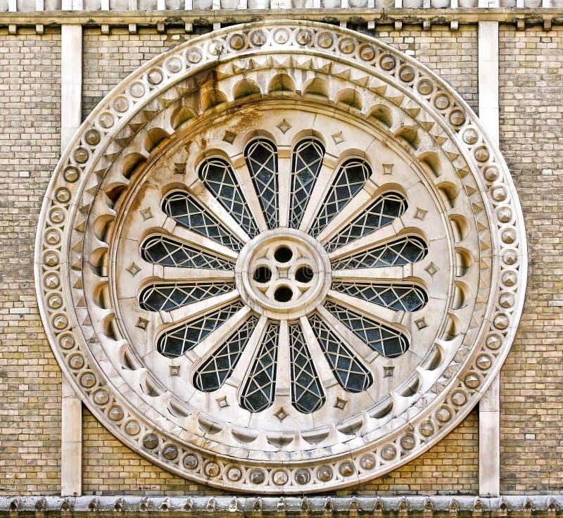 Finestra rotonda della chiesa immagine stock libera da diritti