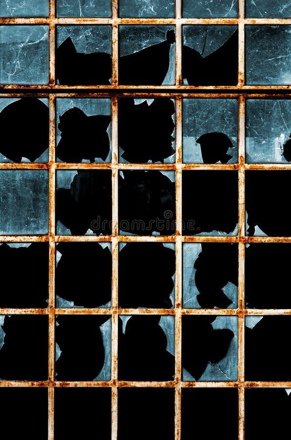 Finestra rotta immagini stock libere da diritti