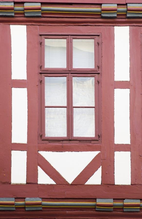 Finestra tradizionale da Hannover, Germania fotografie stock