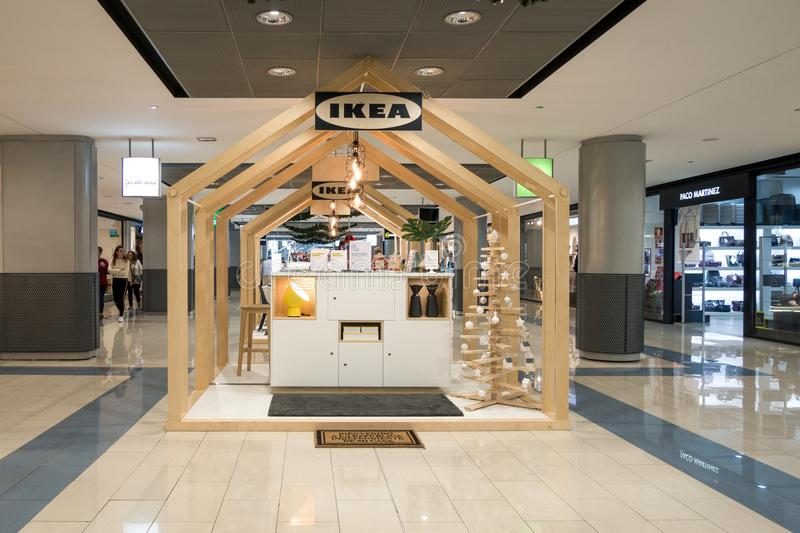 Finestrat, SPAIN - December 26, 2017: New Ikea stand at La Marina Shopping Centre, Finestrat, Spain. New concept. Customer consultation and service, online stock images