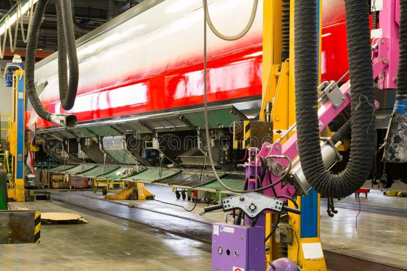 Finestre adatte sul vagone ferroviario immagini stock