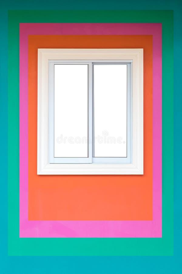 Finestre concrete sulle pareti variopinte illustrazione di stock