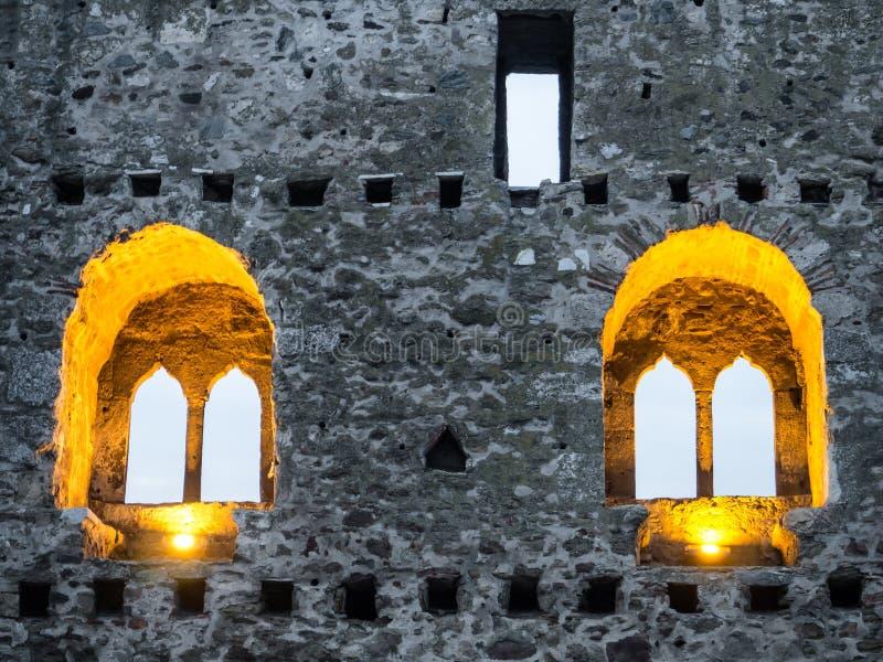 Finestre della fortezza immagini stock libere da diritti