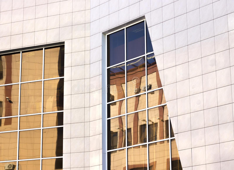 Finestre moderne di architettura immagine stock libera da diritti