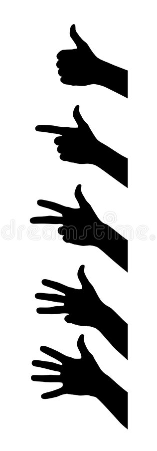 Finger lizenzfreie abbildung