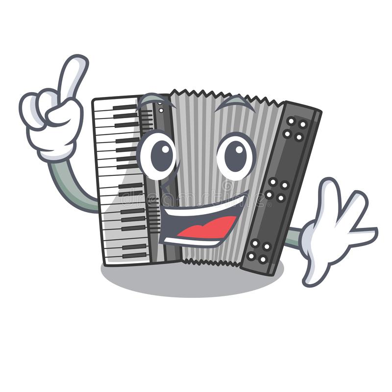 Finger accordion isolated with in the character. Vector illustration stock illustration