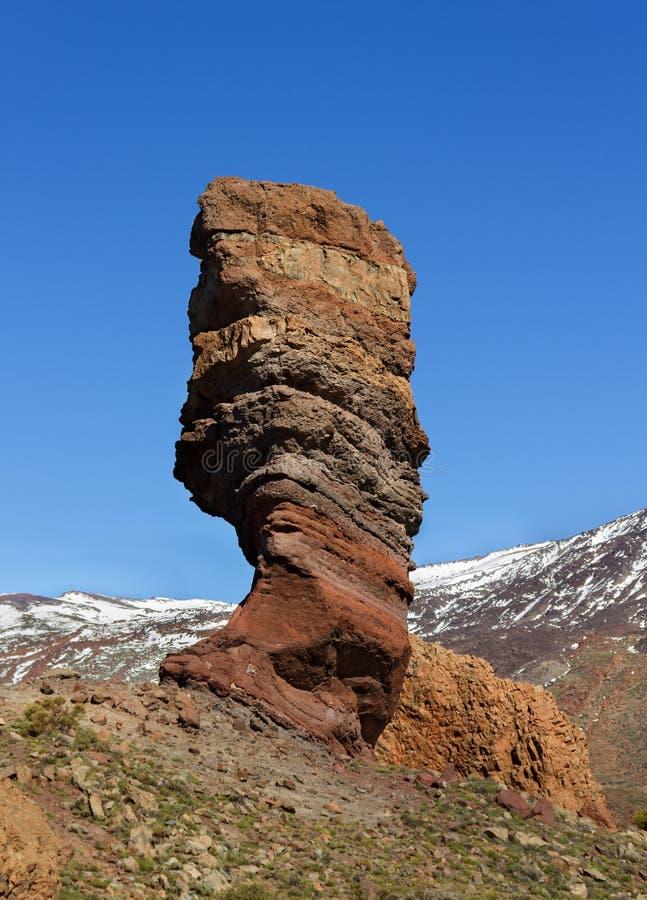 Finger bredvid vulkan Teide royaltyfri fotografi