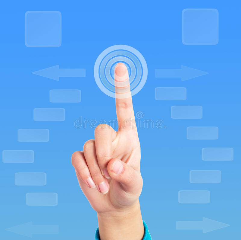 Download Finger click stock image. Image of switches, hand, person - 29021865